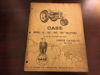 Case D Dc Do Dv Tractor Parts Catalog