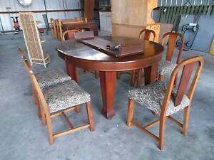 ANTIQUE EXTENDABLE DINING TABLE/6 CHAIRS DECEASED ESTATE SORRENTO Sorrento Mornington Peninsula Preview