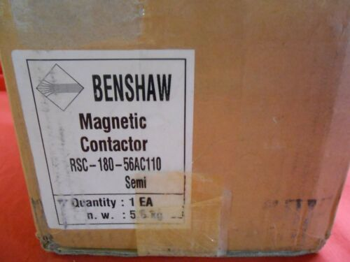 BENSHAW  RSC-180-56AC110  MAGNETIC CONTACTOR--NEW IN BOX