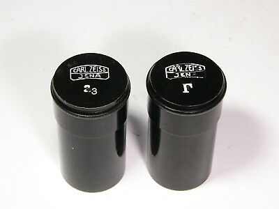 Microscope Objective Carl Zeiss Jena 2pcs Tube Case For A3 And F