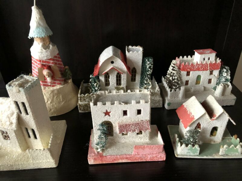 Vintage Putz Houses-Lot of Six (Free Shipping!)