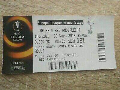 Ticket Europa League 2015 : Tottenham - RSC Anderlecht
