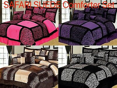Empire Home Safari Suede 7-Piece Comforter Bedding Set Winter