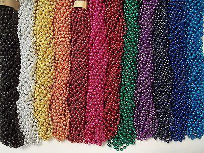 144 Choice 12 colors Mardi Gras Beads Party Favors Necklaces Metallic 12 Dozen - Party Necklaces
