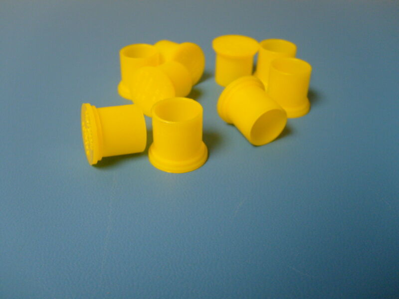 New BNC Female Cap Plugs Caplugs Lot of 100 Yellow New Protection Dust Cover