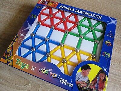 103-tlg Magnetbaukasten Baukasten Magnetset Magnetspielzeug Spielzeug