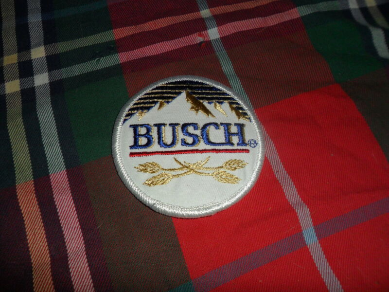 National Emblem BUSCH BEER Brewery PATCH Sew On 2 7/8""