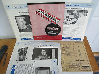 Lot Of Late 1950s Sheffield Corp Instrument Gage Publications