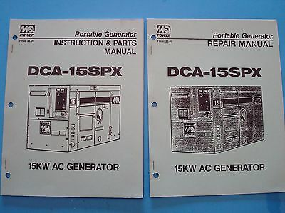 Mqpower Portable 15kw Generator Dca-15spx Instructionparts Repair Manuals