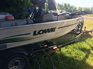 14 ft. Lowe Boat and trailer , 25 HP Johnson