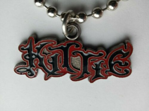 KITTIE CHOKER NECKLACE  Red Band Logo  heavy metal music vintage