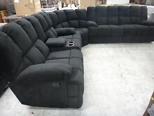 SPARTACUS BLACK FABRIC MODULAR w/ RECLINERS - CLEARANCE OUTLET Richmond Yarra Area Preview