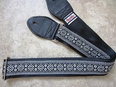 SOULDIER Guitar Strap NAVARRO Black Gray Grey // Woven Hippi