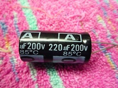 A 200v 220uf 85c 18mm X 36mm 5