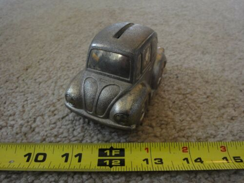 Vintage Silverplate, Volkswagen Bug. Rare VW beetle silver coin bank! Nice!
