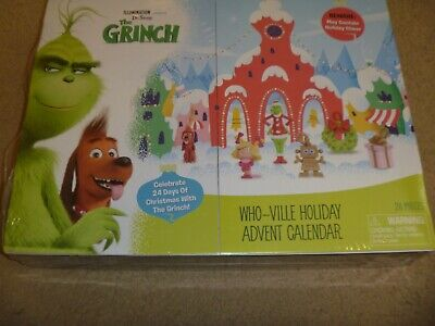 NEW DR SEUSS THE GRINCH WHO VILLE HOLIDAY ADVENT CALENDAR