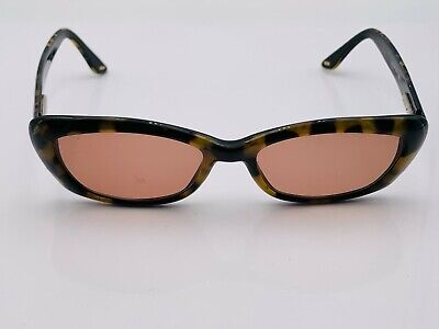 Vintage Gucci GG2415 Tortoise Oval Cat-Eye Sunglasses Italy FRAMES ONLY