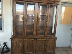 Old cabinet with glass doors