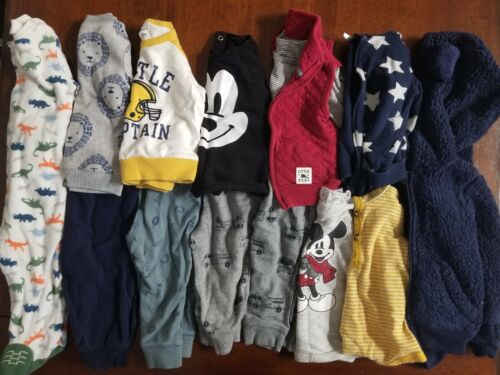 Lot Of Baby Boy Fall/winter Clothes 14 Pieces Carters H&m 6-9 Months Outfit Sets