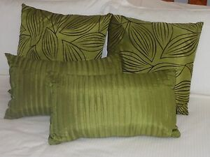 4 x Cushion Covers (including inserts) (Green) Emu Plains Penrith Area Preview