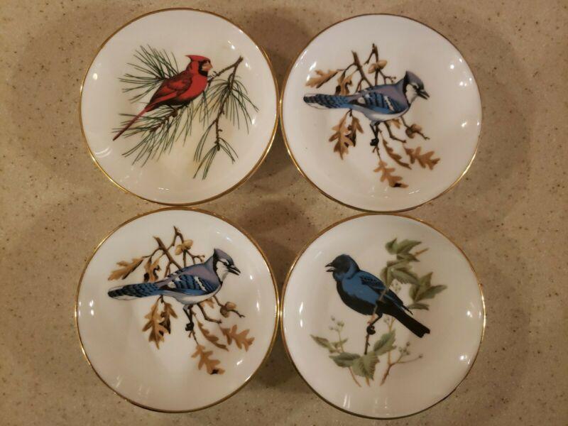 Vintage Crown Staffordshire Bird China Plates, 4