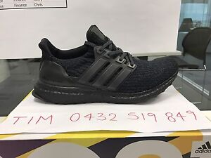 Adidas Ultraboost 3.0 Triple Black US7.5 $38 Hoppers Crossing Wyndham Area Preview