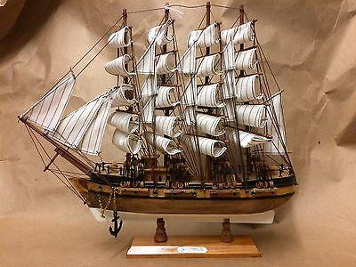 "ANTIQUE WOODEN 16"" X 14"" CHARLES MORGAN MODEL SHIP"