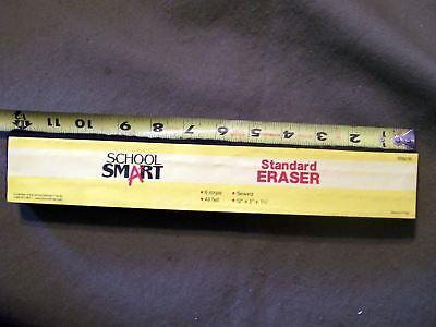 SCHOOL SMART STANDARD ERASER 009216 FELT CHALKBOARD ERASER 12 X 2 X 1 1/4 INCH - Standard Chalkboard Eraser