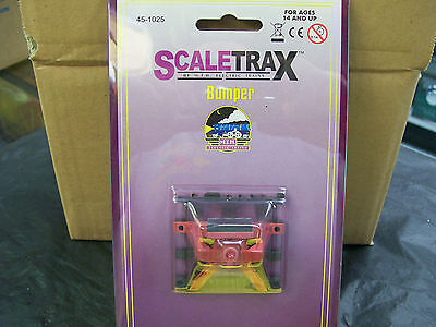 MTH Solid Nickel Rail Scale Trax Lighted Track Bumper # 45-1025 O Scale Sealed