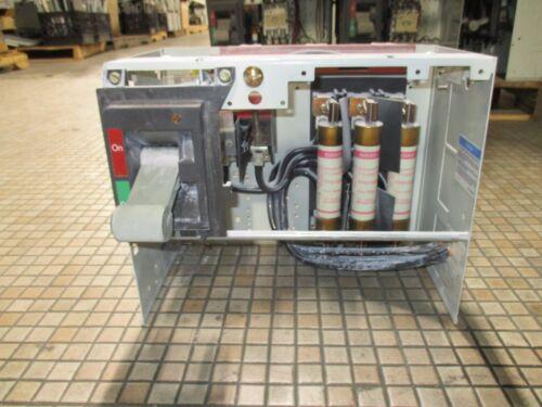 "Cutler Hammer F-2100 Series 100A 600V Fused Feeder MCC Bucket w/ 12"" Door Used"