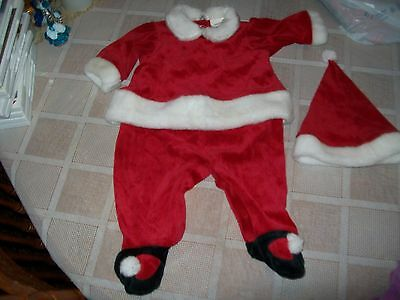 Bright Future 3 Piece Santa Outfit Size Girls 3/6 Months