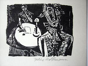 FELIX HOFFMANN - HOLZSCHNITT -  1967 - HANDSIGNIERT