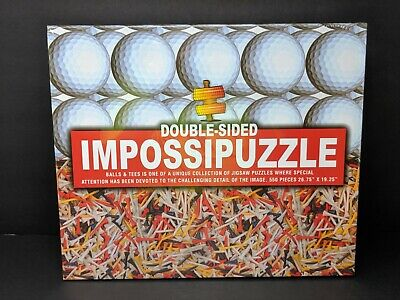 IMPOSSIPUZZLE Double Sided Golf Balls & Tees 550 Piece Puzzle Factory Sealed