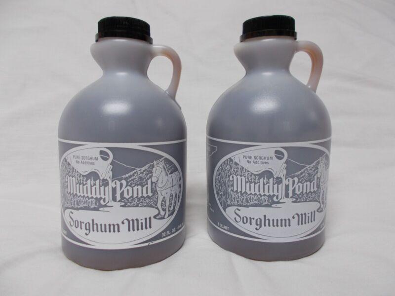 Muddy Pond Sorghum Quarts - 2 jugs sorghum syrup or molasses