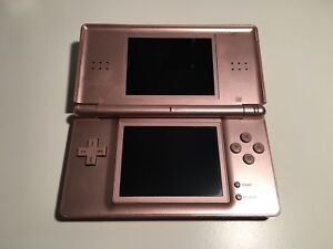 Pink Nintendo DS lite with Charger and Case.