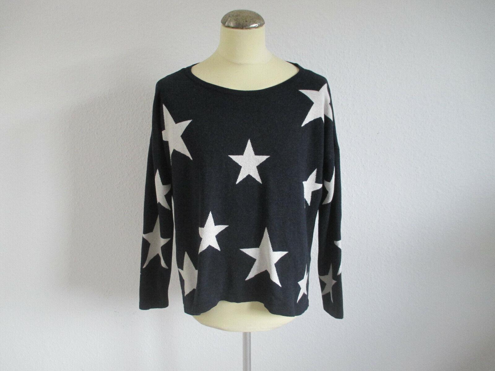 Pullover  ✮ ONLY ✮   Gr.XL  Sterne  Hinten länger  Dunkelb.-Weiß   ✮TOP Zustand✮