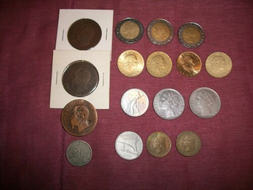ITALY --  Lot of 17 Italian Coins  -  some vintage - LQQK!!!