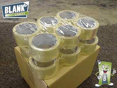 6 Rolls 2.0 Mil Box Packaging Tape - 2 X 110 Yards 330 Feet Sealing Packing