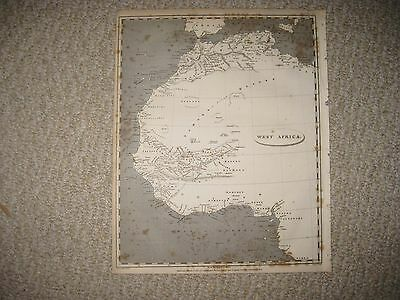 ANTIQUE 1802 WEST AFRICA MAP SAHARA DESERT BARBARY COAST UNEXPLORED AREAS RARE