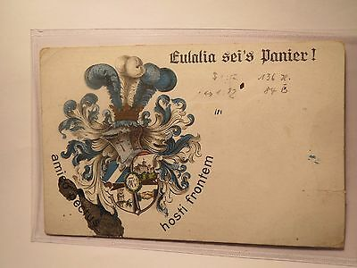 Verbindung Eulalia - Wappen mit Eule - Wahlspruch / Studentika