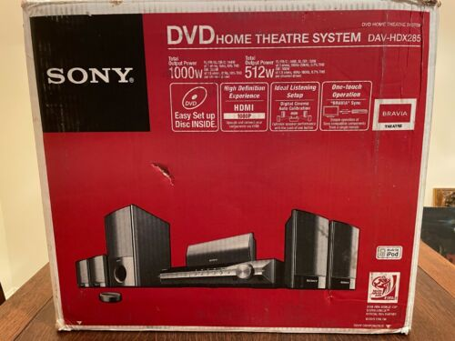 SONY 5.1 Surround DVD Changer Home Theater System DAV-HDX285 New in Box$499 List