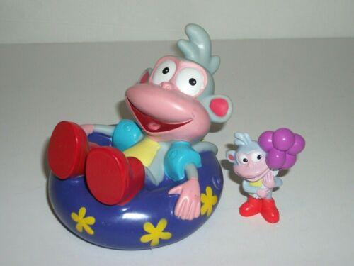 Lot of 2 Boots the Monkey PVC Figure Cake Topper & Bath Toy Dora Explorer Mattel