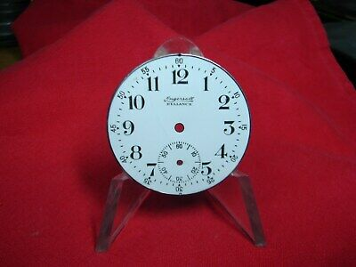 POCKET WATCH DIAL PARTS REPAIR INGERSOLL RELIANCE 43mm ACROSS NICE! dd1