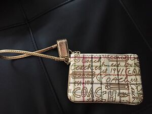 NWOT Authentic Coach wristlet