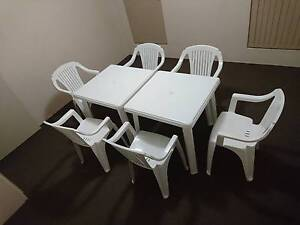 plastic table and chairs Osborne Park Stirling Area Preview