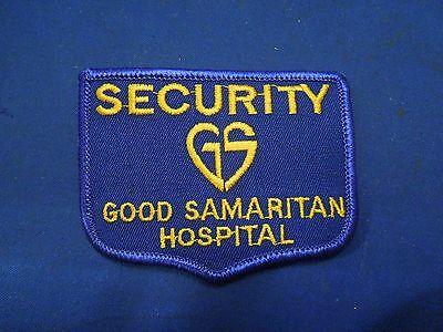 Vintage Security Good Samaritan Hospital Uniform Embroidered Iron On Patch Small