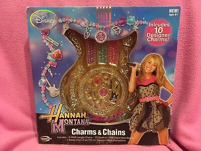 Disney's HANNAH MONTANA CHARMS & CHAINS Jewelry ~ Mix & Match 10 Designer Charms ()