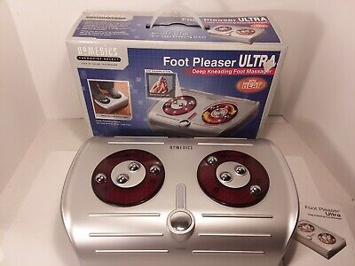 Homedics Foot Pleaser Ultra Deep Kneading Massager with Heat In Box