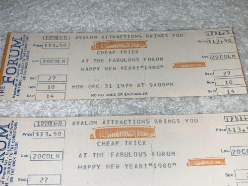 CHEAP TRICK 2 New Years Eve 1979 CONCERT TICKETS FORUM Rick Nielsen Robin Zander