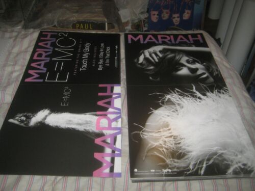 MARIAH CAREY-E=MC2-1 POSTER FLAT-2 SIDED-12X24 INCHES-NMINT-RARE!!!!